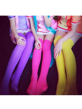 Anime Costumes AF-S2-540785 Halloween Brightly Colored Overknee Silk stockings