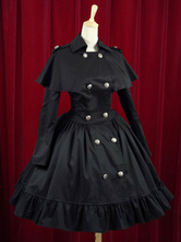 Lolitashow Cotone elegante giunoniche pulsanti Lolita Abito