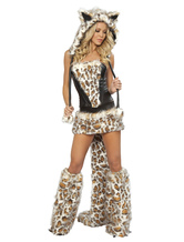 Anime Costumes AF-S2-542031 Halloween Enticing Leopard Print Costume