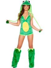 Anime Costumes AF-S2-542037 Halloween Womne's Sexy Polyester Frog Costume