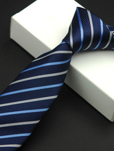 High-end Striped Polyester Men's Dress Tie