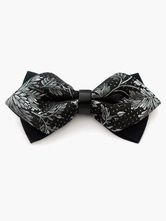 Chic Leaf Printed Polyester Mens Bow Tie