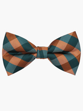 Quality Plaid Polyester Bow Tie For Men