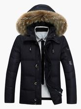 Revestimento Acolchoado De Casacos Sobrecapa De Poliéster De Capa Furry Casaco De Inverno De Khaki