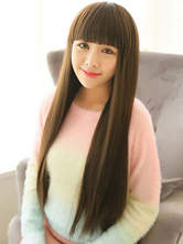 Anime Costumes AF-S2-546839 28 Inches Long Straight Women's Wigs With Straight Bangs