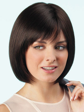 Anime Costumes AF-S2-546909 Classic Black Bobs Women's Straight Short Wigs In Heat-resistant Fibers With Bangs