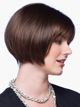 Anime Costumes AF-S2-546919 Chic Brown Bobs Women's Short Wigs In Heat- Resistant Fibers