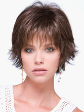 Anime Costumes AF-S2-546935 Curl Tip synthetic Women's Chic Short Wigs With Bangs