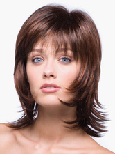 Anime Costumes AF-S2-546933 Mahogany synthetic Women's Short Wigs With Bangs