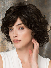 Anime Costumes AF-S2-546895 Vintage Black Curly Wave Short Women's Wigs In synthetic Fibers