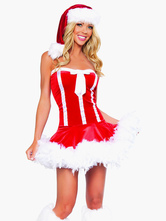 Anime Costumes AF-S2-548875 Sexy Christmas Costume Straples 2 Piece Christmas Lingerie