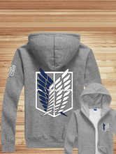 Anime Costumes AF-S2-549399 Attack On Titan Anime Zipper Hooded Sweatshirt