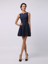 2021 Taffeta Short Bridesmaid Dress With Split Seam Neckline Wedding Guest Dress