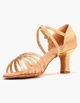 Zapatos De Fiesta Tacón Bajo Zapatos Baile Latino Satinados