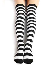 Anime Costumes AF-S2-554581 Halloween Girl's Striped Cosplay Stockings s