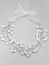 White Imitation Pearl Hair Jewelry for Wedding