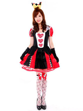 Anime Costumes AF-S2-557329 Halloween Red Queen Polyester Costume 3-Piece Sexy Alice in Wonderland Costume Cosplay for Woman
