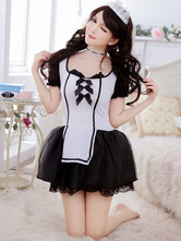 Anime Costumes AF-S2-560283 Halloween Black White Cute Polyester French Maid Costume For Women