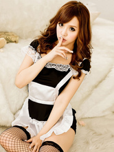 Anime Costumes AF-S2-560263 Halloween White Black Sexy Polyester French Maid Costume For Women
