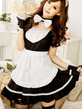 Anime Costumes AF-S2-560267 Halloween Sexy Black Backless Polyester French Maid Costume For Women