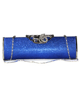 Blue Party Bag Women's Clutch Bag With Chain