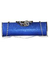 Blu pochette borsa donna con catena