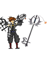 Kingdom Hearts Sora Halloween Keyblade Cosplay Wooden Weapons Halloween