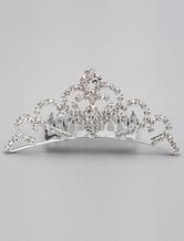 Silver Rhinestone Wedding Tiara Wedding Comb