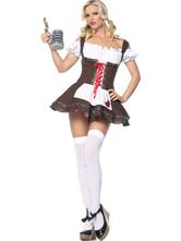 Anime Costumes AF-S2-562965 Halloween Brown Oktoberfest Polyester Beer Girl Costume