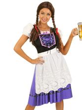 Anime Costumes AF-S2-562979 Halloween Purple Oktoberfest Polyester Beer Girl Costume