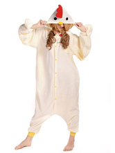 Kigurumi Pajamas Chicken Onesie Beige Unisex For Adult Synthetic Mascot Animal Mascot Costume Halloween onesie pajamas