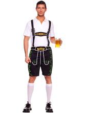 Anime Costumes AF-S2-562991 Halloween Black Oktoberfest Polyester Beer Men Costume