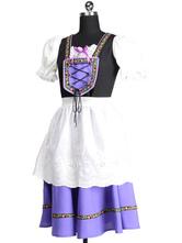 Anime Costumes AF-S2-563003 Halloween Purple Oktoberfest Polyester Beer Girl Costume