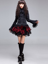 Lolitashow Black Polyester Gothic Lolita Blouse for Women