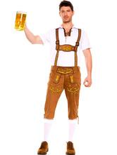 Anime Costumes AF-S2-562987 Halloween Light Brown Oktoberfest Beer Men Costume