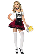 Anime Costumes AF-S2-562963 Halloween Red Oktoberfest Polyester Beer Girl Costume