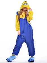 Kigurumi Pajamas Minions Onesie Yellow Sleepwear Costume Halloween