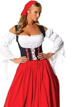 Anime Costumes AF-S2-563005 Halloween Red Off the Shoulder Polyester Beer Girl Costume