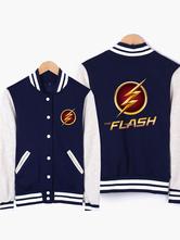 Anime Costumes AF-S2-564061 Halloween The Flash Cotton Dark Navy Jacket for Men