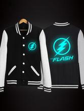 Anime Costumes AF-S2-564063 Halloween The Flash Cotton Black Jacket for Men