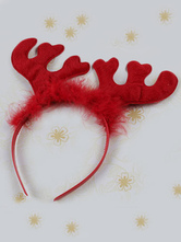 Anime Costumes AF-S2-564557 Halloween Red Synthetic Antler Hairband for Women