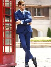 Голубой официальный костюм для мужчин