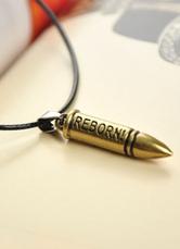 Bronze Woven Bullet Necklace for Men