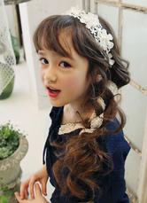 Fascia di nozze bianco per Flower Girl