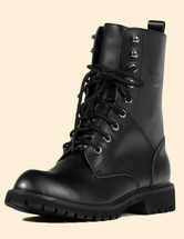Black Round Toe Winter Boots Martin Boots for Men