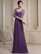 Verdrehte Sweetheart Chiffon Abendkleid mit Spitze-Illusion-Mantel