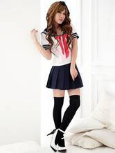 Anime Costumes AF-S2-567957 Halloween Blue Polyester Fashion Sailor Costume for Women