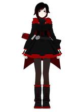 Anime Costumes AF-S2-568671 Split Color Satin Ruby Rose Red cosplay