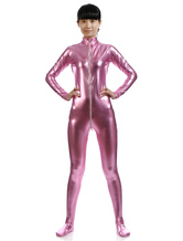 Anime Costumes AF-S2-568407 Pink Shiny Metallic Zentai Suit Zippered for Women