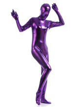 Anime Costumes AF-S2-568381 Deep Purple Shiny Metallic Cosplay Zentai Suits for Women